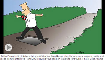 Dilbert creator Scott Adams talks about the importance of failure for success